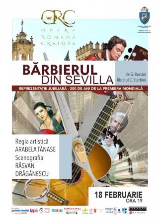 Afis Barbierul din Sevilla la Opera Romana Craiova