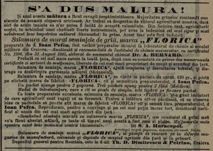 Reclama Fabrica Florica Epoca, seria 2, 03, nr. 563, 19 septembrie 1897
