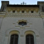 Intrarea in Manastirea Tismana - partea de sus a turnului de intrare de pe latura de vest a incintei