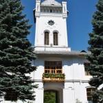 Intrarea in Manastirea Tismana - turn de intrare pe latura de vest a incintei - vedere din interiorul incintei