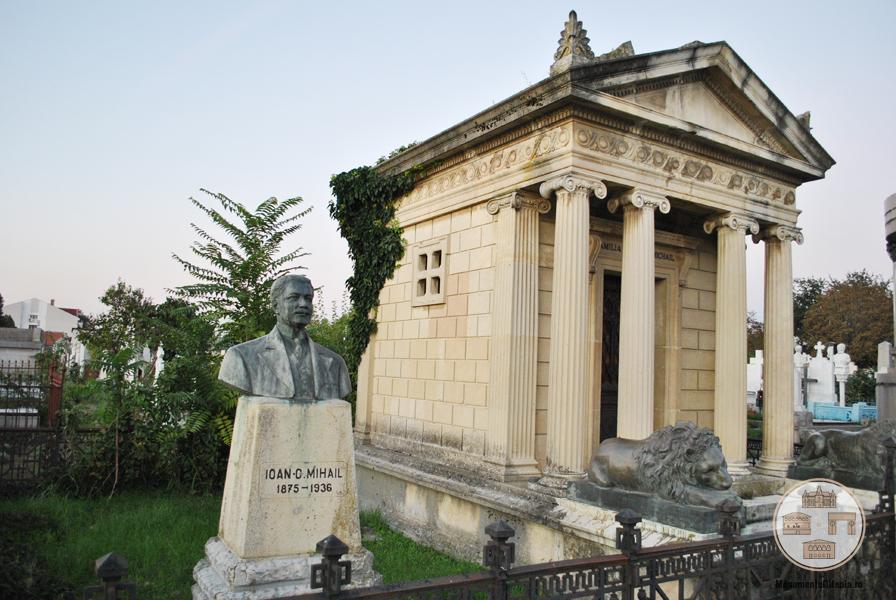Monumentele funerare al lui Nicolae si Jean Mihail, Cimitirul Ungureni, Craiova