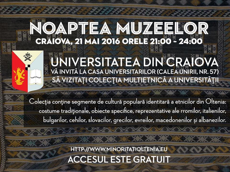 Noaptea Muzeelor 2016 la Casa Universitarilor din Craiova