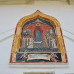 Manastirea Hurezi - pisania deasupra intrarii in trapeza