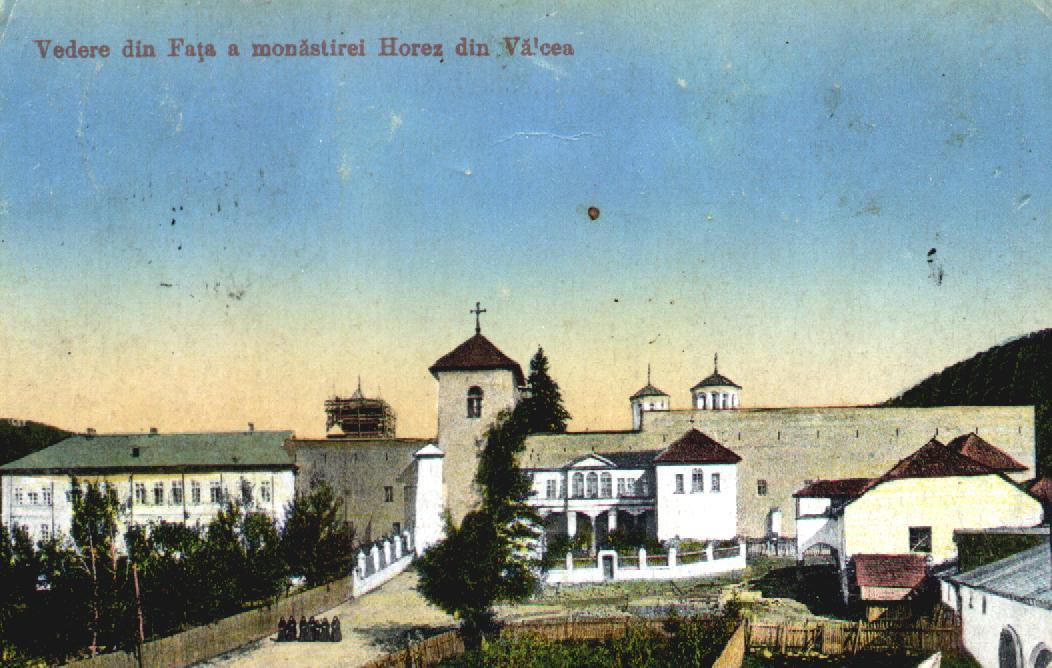 """""""Vedere din față a Monastirei Horez din Vâlcea"""" (sursa omeka.bjc.ro)"""