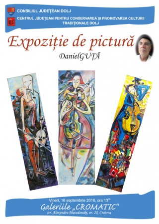 Afis Expozitie de pictura Daniel Guta