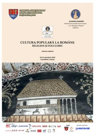Afis Cultura populara la romani - Casa Baniei