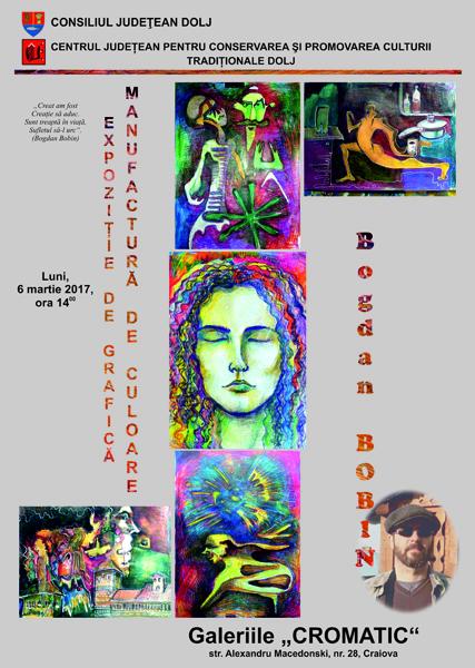Afis Expozitie de grafica Manufactura de culoare