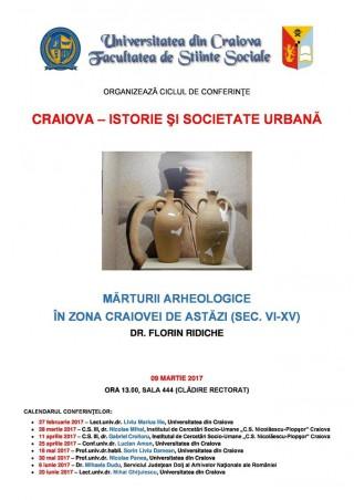 Marturii arheologice in zona Craiovei de astazi