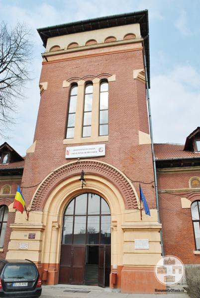 Fosta Scoala Normala de Baieti Craiova - turn intrare