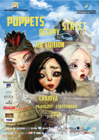 Afis Festival Puppets Occupy Street Craiova 2017