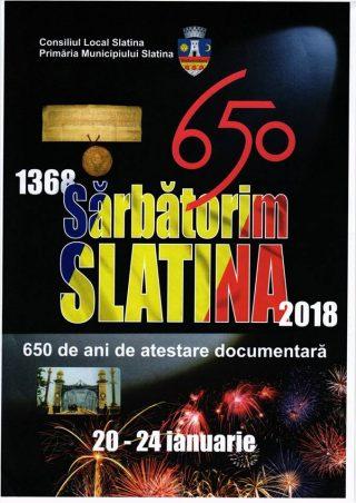 Slatina 650 de ani de atestare documentara
