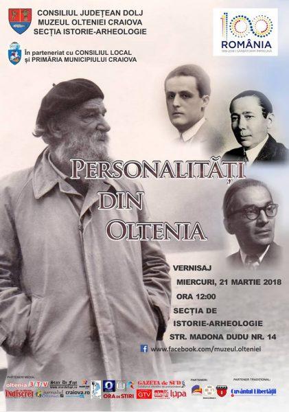 Expozitie Personalitati din Oltenia la Muzeul Olteniei Craiova