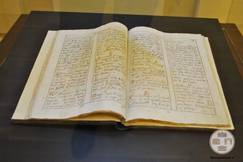 Pravilniceasca Condica, manuscris 1792 - expusa la Muzeul Olteniei