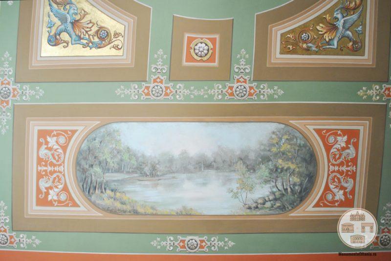 Casa Nicolae Romanescu - decoratiuni tavan salonul Alexandru Piru