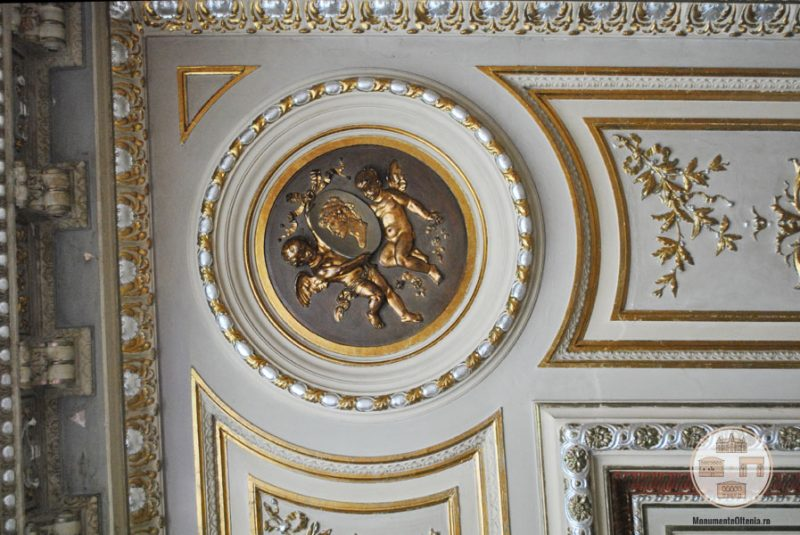 Casa Nicolae Romanescu - detalii tavan salon receptii