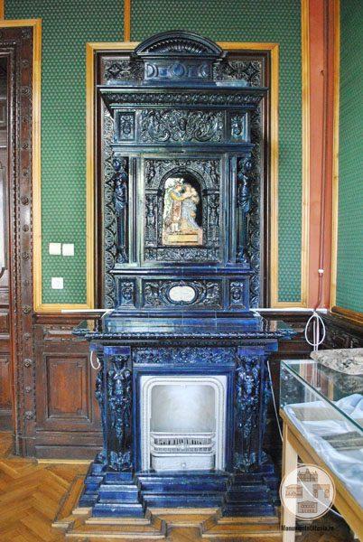 Casa Nicolae Romanescu - soba biblioteca Luciei Romanescu
