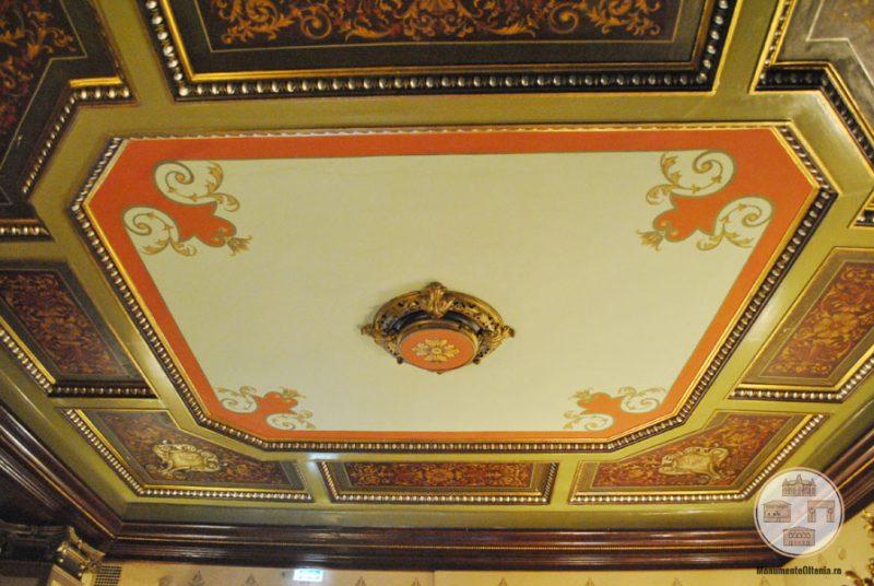 Casa Nicolae Romanescu - tavan salon parter