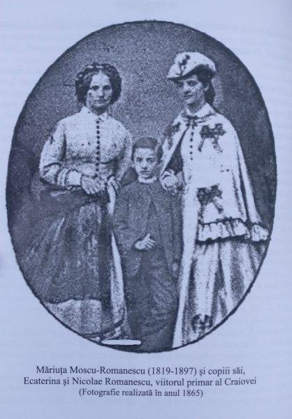 Mariuta Moscu si copiii ei, Ecaterina si Nicolae
