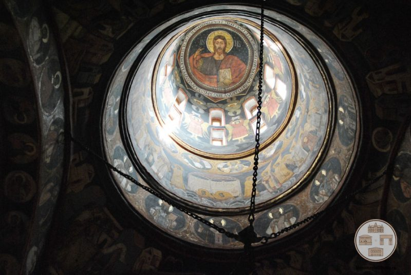 Biserica Sf Nicolae Amaradia Belivaca, Craiova - pictura interioara turle