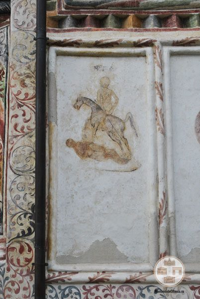 Biserica Sf Nicolae Amaradia Belivaca, Craiova - reprezentare alegorica a mortii