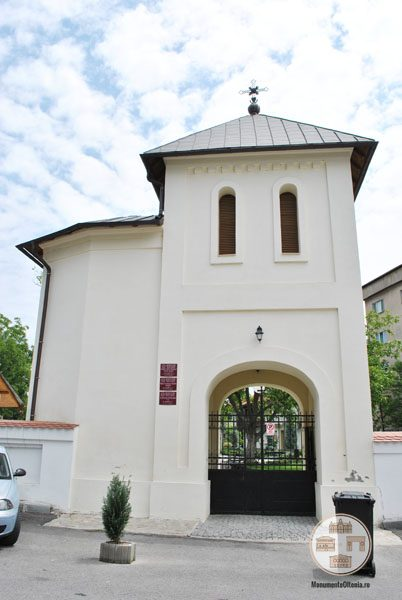 Biserica Sf Nicolae Amaradia Belivaca, Craiova - turn cloptnita