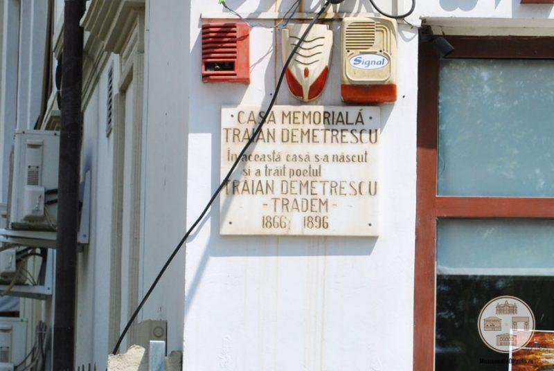 Placuta pe casa poetului Traian Demetrescu, Craiova