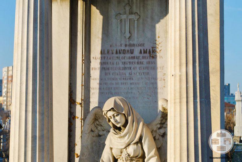 Inger - monumentul funerar al familiei Aman din Cimitirul Sineasca, Craiova