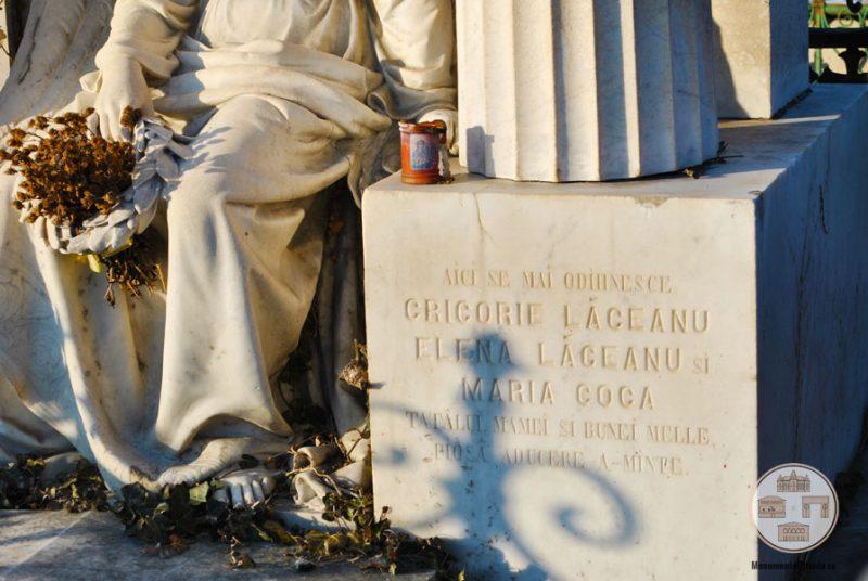 Inscriptie - Monumentul funerar al familiei Aman, Cimitirul Sineasca, Craiova
