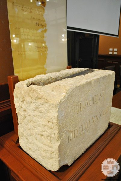 Piatra de temelie si documentul comemorativ BNR filiala Dolj