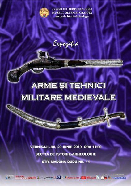 Arme si tehnici militare medievale la Muzeul Olteniei