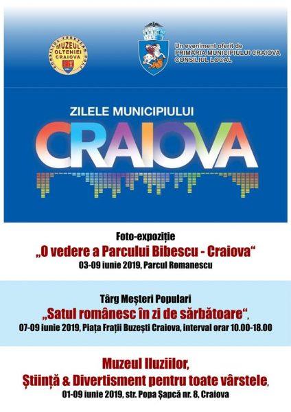 Zilele Municipiului Craiova 2019 - activitati Muzeul Olteniei