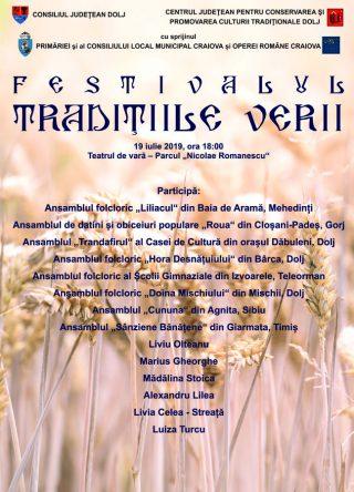 Afis Festivalul Traditiile Verii Craiova 2019